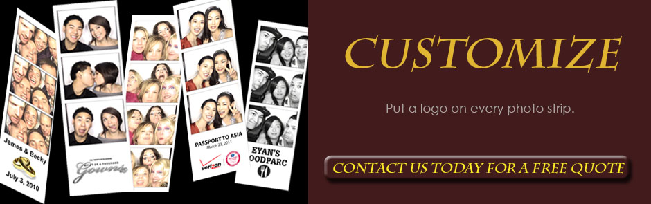Photo booth rental Long Island - customize